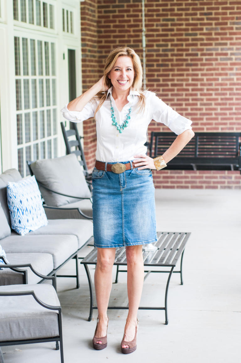 Meet Your Spring Uniform: The Denim Skirt