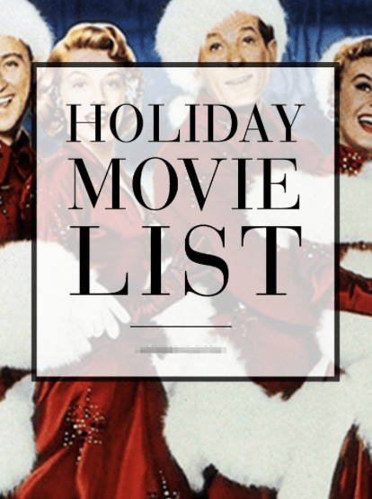 A Stylish Holiday Movie List: 25 Days of Delights, December 4, 2015