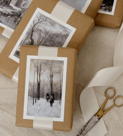 Two Stylish Delights: Chic Gift-Wrapping And 30 Free Printable Gift Labels