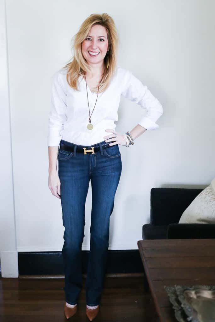 Core Wardrobe How To Wear Dark Rinse Bootcut Jeans ...
