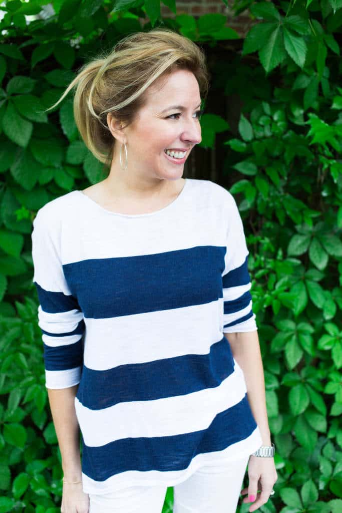 How To Wear Stripes Without Looking Wide
