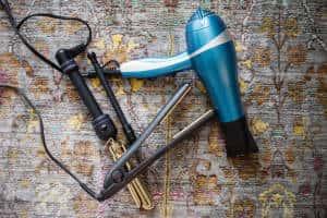 curling iron flat iron blow dryer
