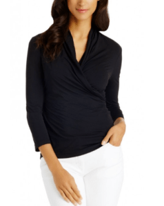 Lyford Wrap Top J McLaughlin, $125 | Your price $106.25, SAVE 15% WITH SV EXCLUSIVE DISCOUNT CODE: VAULTTOP