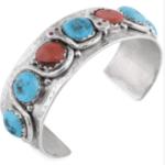 Vintage Large Effie C. Zuni Southwestern Turquoise Cuff Bracelet