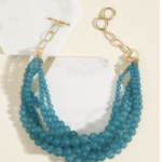 Bauble Necklace in Matte Teal
