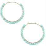 Turquoise Hoop-Earrings (SALE)