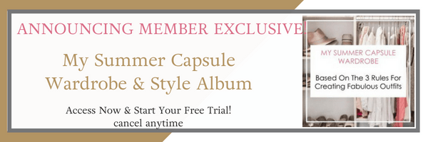 Announcing Member Exclusive! My Summer Capsule Wardrobe & Style Album