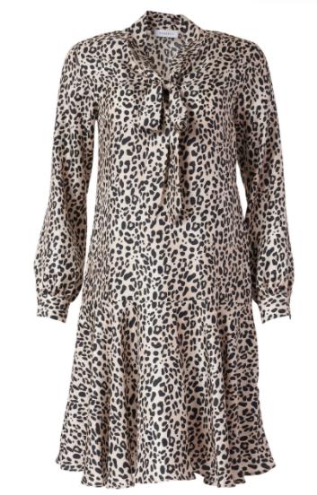 Rosso35 Animal Print Silk Dress