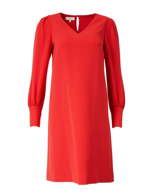 Lafayette 148 New York Red Crepe Dress
